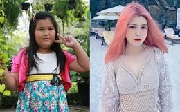 Màn dậy thì ngoạn mục của cô gái 18 tuổi, giảm 25kg, nhan sắc hiện tại gây chú ý