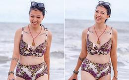 Lần hiếm hoi vợ lớn hơn 6 tuổi của Phạm Anh Khoa khoe ảnh bikini gợi cảm