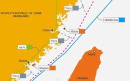 Quân đội Mỹ công bố bản đồ và ảnh tàu Mustin vượt qua đường trung tâm đi xuyên eo biển Đài Loan