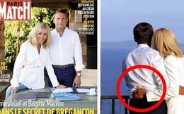 Đệ nhất phu nhân Pháp lộ ảnh tình cảm lãng mạn với chồng nhưng lại bị soi chi tiết kém hoàn mỹ
