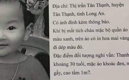 Sự thật vụ bé gái 2 tuổi ở Long An bị mất tích lan truyền trên mạng xã hội