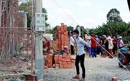 Sập giàn giáo ở Long An, 2 người tử vong, 6 người bị thương