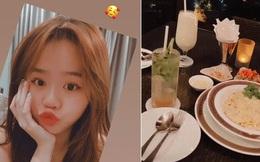 Hot girl Huỳnh Anh xuất hiện trở lại với bữa tối lãng mạn, fan xôn xao tưởng tái hợp với Quang Hải