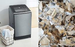 Người đàn ông làm nát tươm gần 450 triệu tiền mặt vì... tiệt trùng bằng máy giặt