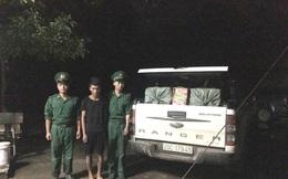 Bắt gần 400kg pháo nổ trên xe ô tô tải ở biên giới