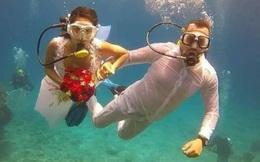 Đám cưới có 1-0-2: Những bức ảnh quá chất được tổ chức dưới đáy biển, nhìn cảnh dâu rể mà tất cả phải băn khoăn vì một lý do!