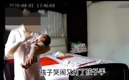 Tin tưởng giao đứa con 6 ngày tuổi cho bảo mẫu, ông bố choáng váng khi xem camera an ninh