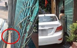 Đỗ ô tô chắn ngang cửa, nữ tài xế bị chủ nhà xích bánh và lời nhắn khiến chị vội xin lỗi