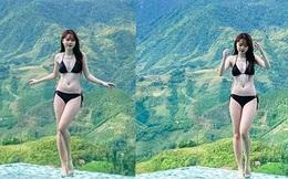 Bạn gái Quang Hải diện bikini sexy khoe body nóng bỏng, chân dài miên man giữa đất trời Sa Pa