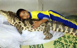 Đứa trẻ ôm ấp 'bé' cá sấu mà mặt thản nhiên như không có gì và hàng loạt thể loại thú cưng không phải ai cũng dám nuôi