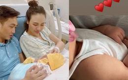 Đàm Thu Trang công khai hình ảnh của con gái: Mới hơn 1 tháng đã trộm vía tay chân mũm mĩm cực đáng yêu