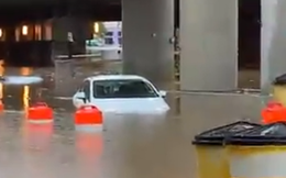 Mưa lớn khiến khuôn viên Nhà Trắng ngập lênh láng