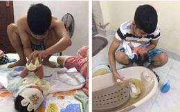 'Nhật ký' người chồng chăm vợ ở cữ, tự tay nấu cháo, thay bỉm, tắm cho con