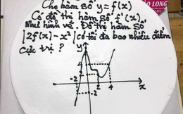Học trò tặng bánh kem 'hại não' với bài tập hàm số