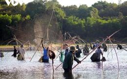 Hàng trăm người thi nhau lội bùn bắt cá trong lễ hội phá trằm