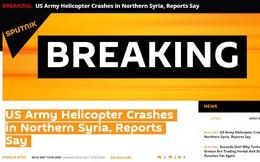 Trực thăng quân sự Mỹ rơi ở Syria