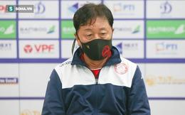 HLV Chung Hae-seong từ chối nhắc lại vấn đề trọng tài, tiết lộ về điểm yếu của CLB Hà Nội