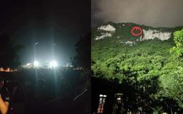 Rọi đèn sân vận động cứu hai học sinh mắc kẹt trên núi trong đêm ở Thái Nguyên