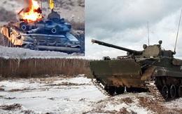 """Hi hữu: Xe chiến đấu bộ binh BMP-3 Nga khai hỏa tên lửa """"đánh quỵ"""" xe tăng T-90 ở Syria?"""