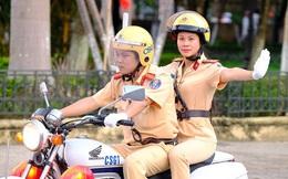 Vẻ đẹp của 'bóng hồng' cảnh sát giao thông Hà Nam