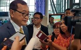 Chủ tịch đảng đối lập Sam Rainsy tuyên bố sẽ quay trở lại Campuchia
