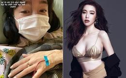 Elly Trần gây xôn xao với hình ảnh òa khóc trên giường bệnh