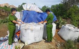 Vụ mang 60 tấn chất thải lên núi đổ trộm: Đã có kết quả xét nghiệm chất thải