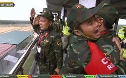 Vỡ òa khoảnh khắc Việt Nam về nhất cuộc thi Tank Biathlon