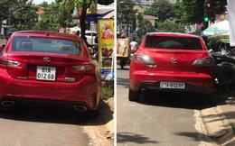 Xe sang Lexus RC 200t trùng biển số đẹp với xe khác... lưu thông trên đường phố ở Gia Lai