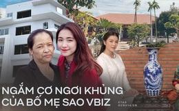 Ngắm trọn cơ ngơi khủng sao Vbiz báo hiếu bố mẹ: Quốc Trường tặng nhà 25 tỷ chưa choáng bằng biệt phủ 10.000m2 Lý Nhã Kỳ tậu