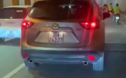 Phạt tiền, tước bằng lái 2 tháng tài xế xe Mazda đi sai làn trong hầm Kim Liên