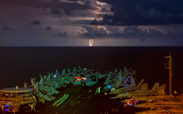 Mỹ rút tàu sân bay duy nhất tại Trung Đông về nước