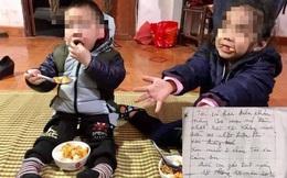 Hai cháu bé ở Hà Nội bị bỏ rơi giữa trời giá rét trên bờ đê, kèm lá thư viết 'bố mẹ nó đều chết rồi'
