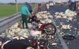CLIP: Tai nạn trên tuyến tránh Quốc lộ 91: 1 người tử vong, 1 phụ nữ văng cả chục mét