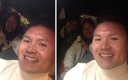 Cầu thủ Quang Hải dừng xe trên cao tốc cho hai cô giáo đi nhờ