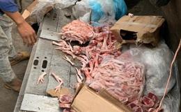 Phát hiện hơn một tấn thịt đông lạnh không rõ nguồn gốc