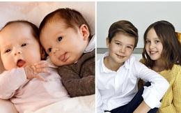 """Cặp song sinh Hoàng gia Đan Mạch """"gây sốt"""" MXH với màn lột xác ở tuổi lên 10, độ hot không thua kém Hoàng tử Công chúa nước Anh"""
