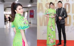 Á hậu Lý Kim Thảo diện áo dài lên thảm đỏ