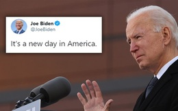 """""""Ngày mới đã đến với nước Mỹ"""": Ông Biden đăng tweet sau khi Tổng thống Trump rời Washington"""