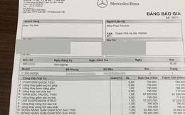 'Méo mặt' với giá sửa Mercedes-Benz C 300 AMG hỏng giảm xóc hơn 250 triệu đồng