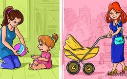 Test tư duy logic qua tranh: Bạn thấy người mẹ trẻ nào nghèo hơn?