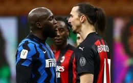 Ibrahimovic nhận thẻ đỏ, AC Milan thất thủ trước Inter Milan