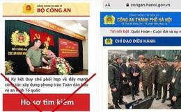 Tin tặc gắn mã độc vào trang web giả mạo Cổng thông tin của Công an Hà Nội