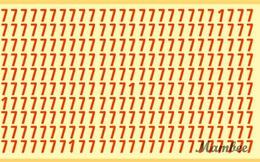"""Thách thức thị giác 15 giây: Bạn hãy tìm 4 số 1 lẩn trong """"rừng"""" số 7"""