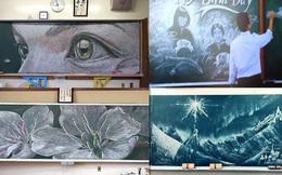 """Dân mạng trầm trồ trước tài năng vẽ của học sinh Nhật Bản: Chỉ phấn trắng, bảng xanh cũng tạo nên những """"tuyệt phẩm"""" thế này đây!"""