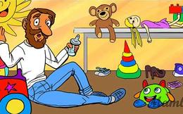 """10 giây xem tranh và giải câu đố """"hại não"""": Người bố trẻ có mấy đứa con?"""