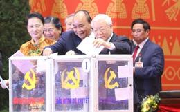 Đại hội XIII đã bỏ phiếu bầu Ban Chấp hành Trung ương khóa mới