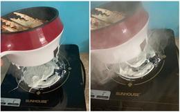 Đang đun đồ ăn giúp mẹ, cô gái hoảng hốt vì khói bốc lên khét lẹt, nguyên nhân khiến cả nhà thở dài