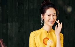 Hoa hậu Dương Thùy Linh duyên dáng với áo dài, khoe nhan sắc trẻ trung tuổi U40