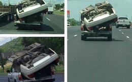 """Xe hơi """"biến hình"""" thành xe tải trên đường khiến dân tình kinh hãi"""